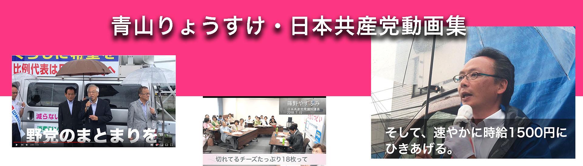 青山りょうすけ・日本共産党動画集